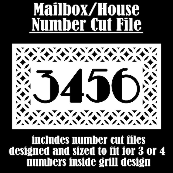 Mailbox svg, House Number svg, Decorative house Number Cut files, mailbox numbers svg, Door number svg, transom svg