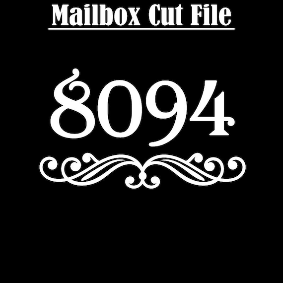 Mailbox Numbers - Flourish and Number Cut Files for Standard Mailboxes