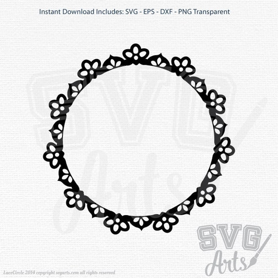 Lace Circle Clip Art - SVG - EPS - DXF & Png Graphic Clipart - Perfect for digital cutting machines