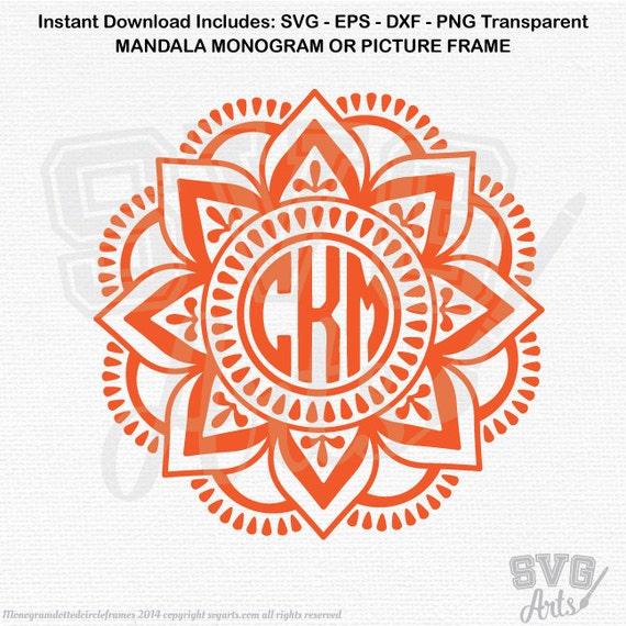 Mandala SVG - Monogram Frame - Monogram Mandala Border