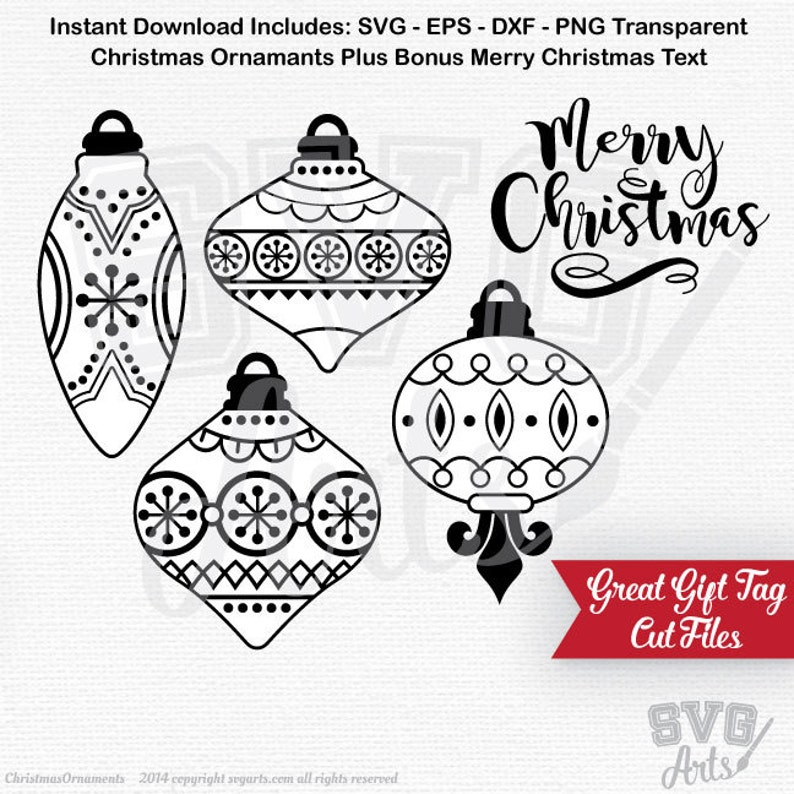 Christmas Ornaments Svg Eps Dxf Files Ornament Design And