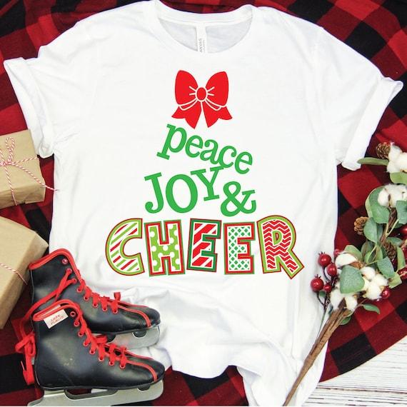 Christmas SVG, peace joy CHEER, Christmas Clip Art Svg, SVG for Cricut, Cheerleading