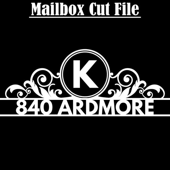 Mailbox Monogram and Number Cut Files - Flourish sized for Standard Mailboxes