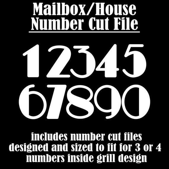 Mailbox Svg House Number Svg Decorative House Number Cut Files Mailbox Numbers Svg Door Number Svg Transom Svg