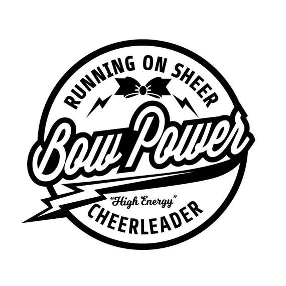 Cheerleader SVG Cut File - Running on Sheer Bow Power - Cheer SVG