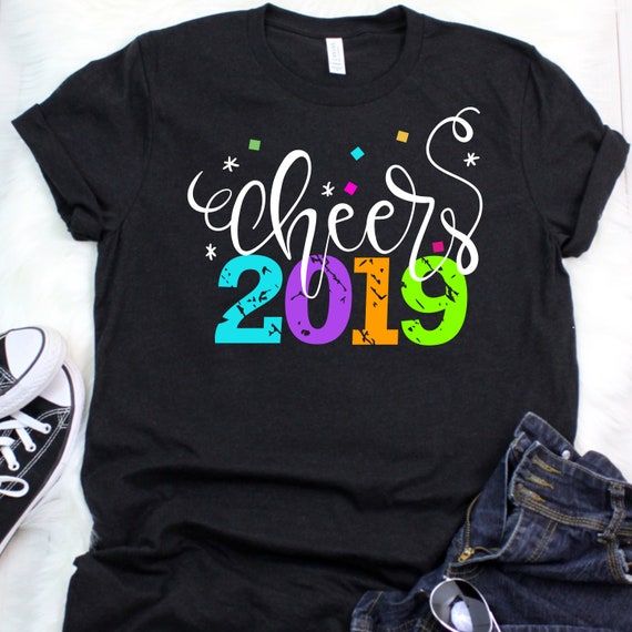 Cheers 2019 New Years SVG  - DXF & JPG - New Years t-shirt design, New Years design, cheers 2019 grunge svg