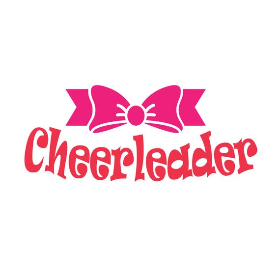 Cheerleader Bow SVG, dxf, eps - Cute SVG Cut File - Cheer SVG, bow svg, bow dxf