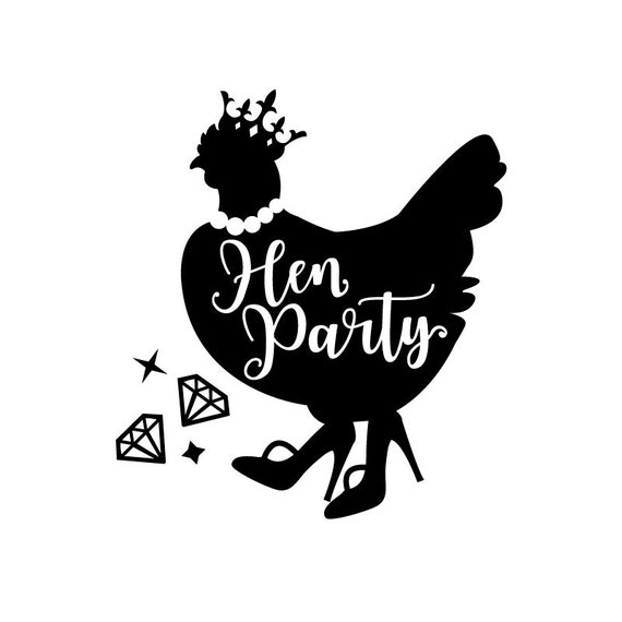 Hen Party - Crown and Diamond Feed - SVG - EPS - DXF and jpg Formats for printing and cutting machines
