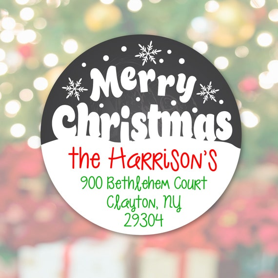 Printable PNG, Merry Christmas Sticker, Christmas Address Label, Printable Download Cricut Avery Address Sticker Photo Overlay