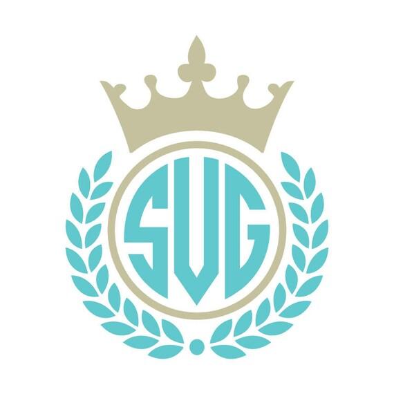Crown svg, monogram Wreath SVG, dxf, crown monogram svg, princess svg, princess monogram frame