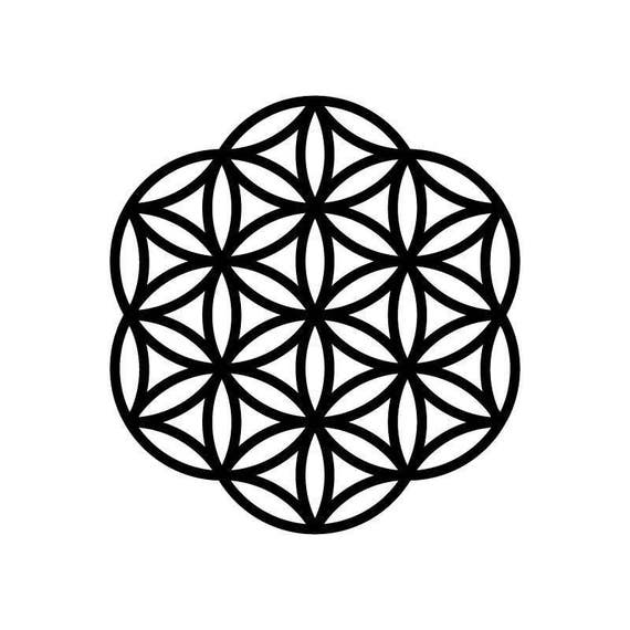 Flower of life svg - 3 designs in SVG, DXF and eps, mandala stencil template