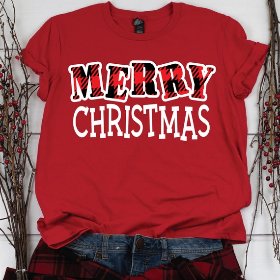 Christmas SVG, Buffalo Plaid Letters, Merry Christmas SVG, Christmas Clip Art Svg, SVG for Cricut, svg cut file
