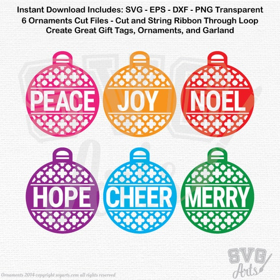 Christmas Ornaments SVG, DXF Cut Files - Christmas Svg,  Ornaments svg, ornaments dxf