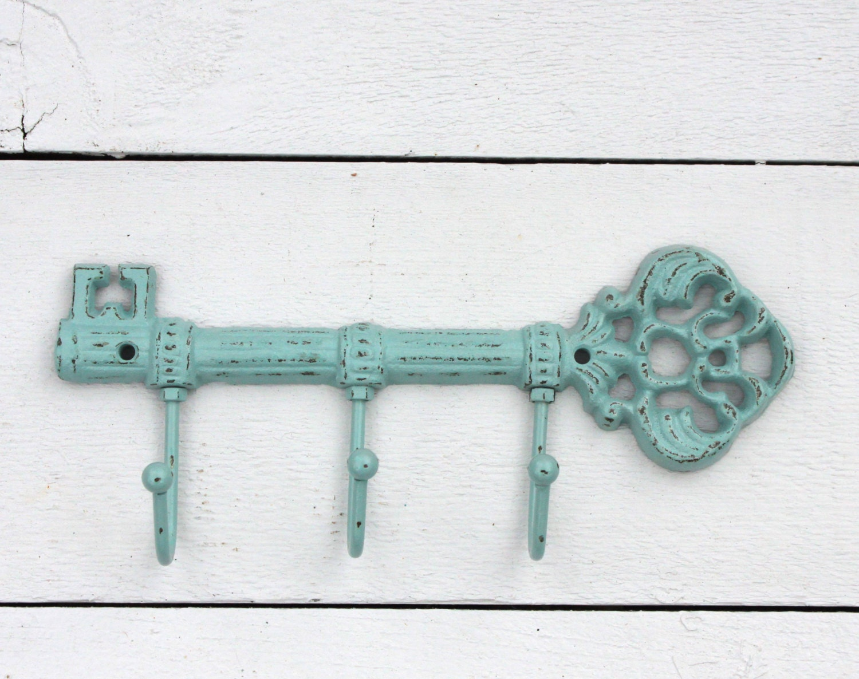 skeleton key holder for wall decorative key hook vintage. Black Bedroom Furniture Sets. Home Design Ideas