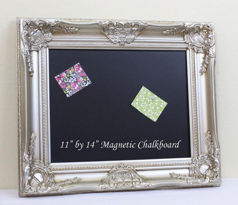 00dd3360868 Ornate Chalkboard Framed Blackboard Champagne Silver Vintage