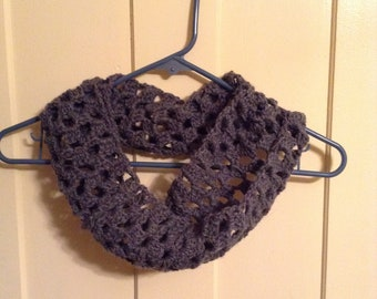 Gray Crochet Cowl