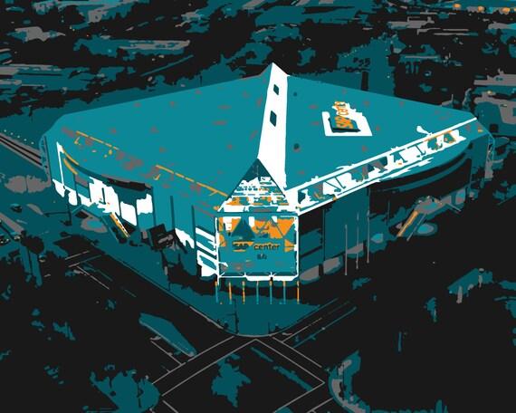 San Jose Sharks Art Sap Center Hockey Arena San Jose Etsy