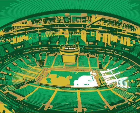 Boston Celtics art TD Garden Boston Massachusetts canvas   Etsy