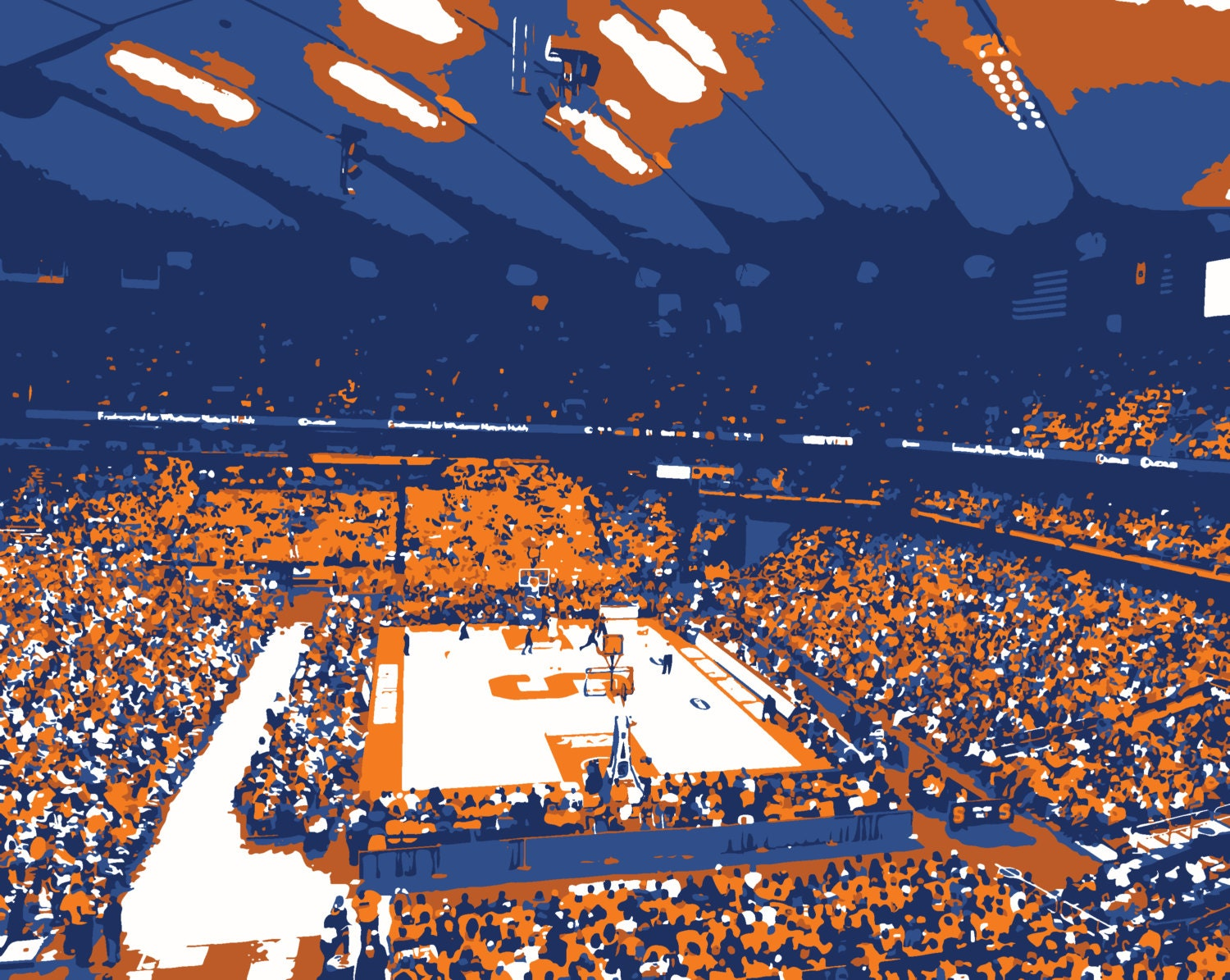 Syracuse University Carrier Dome Basketball Arena Print Etsy