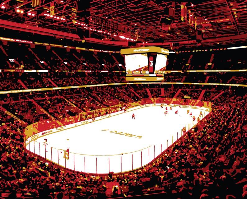 new concept 87dd4 9596a Ottawa Senators art, Canadian Tire Centre hockey arena, Ontario Canada,  canvas print, Hockey art, man cave, groomsman gift, child's bedroom