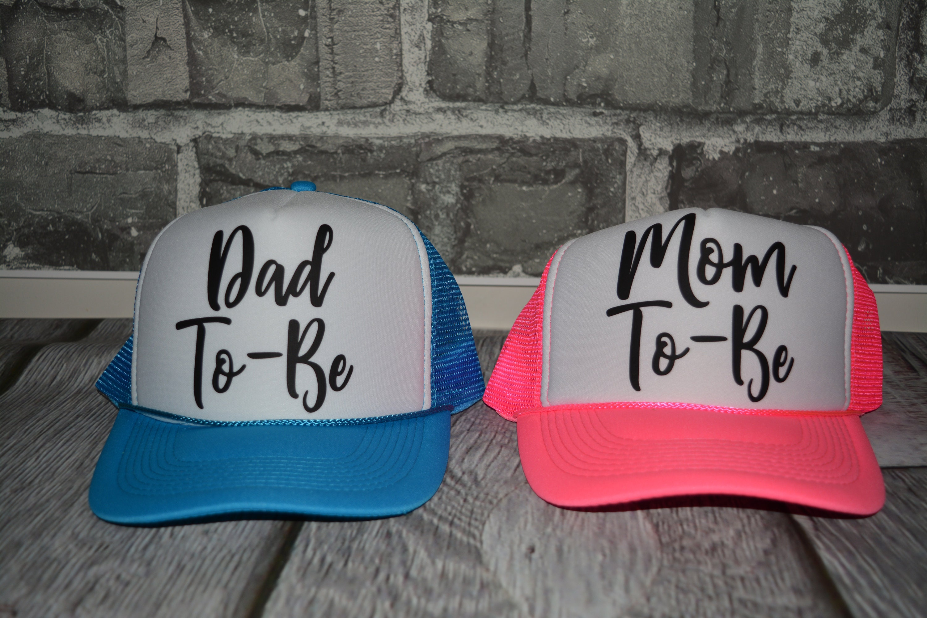mom to be Hat dad to be neon trucker hat Bride neon hat  509027258eb4