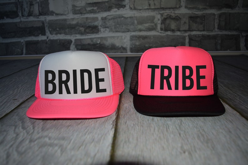 648c1702d179f Neon Bachelorette Party Hats Beach bride trucker hat tribe