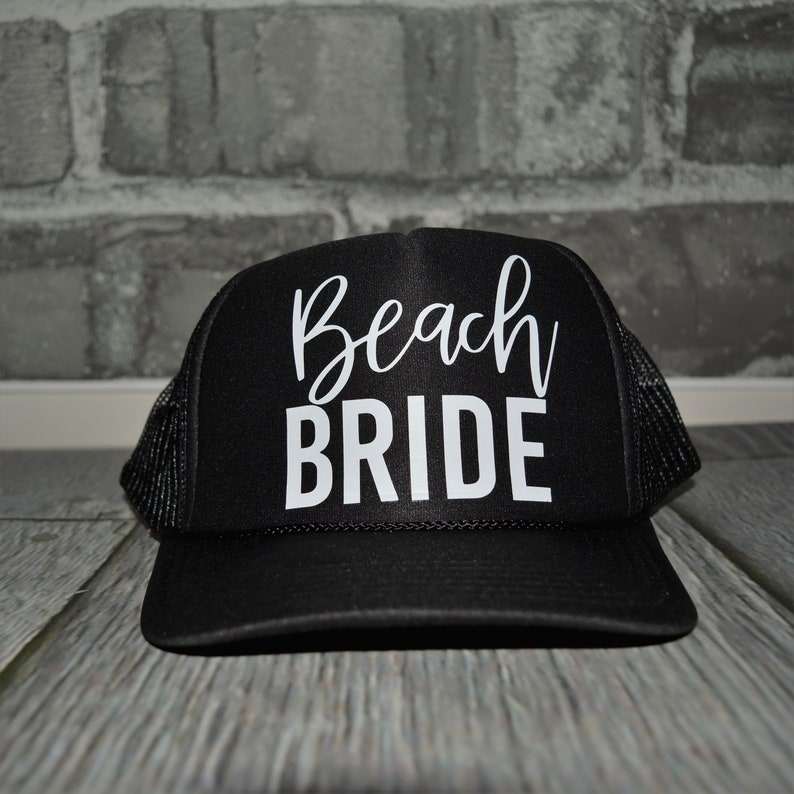 f12a0f1d1318f Beach Bachelorette Party Hats beach Bride trucker hat Bride
