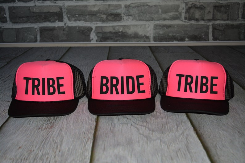 Neon Bachelorette Party Hats Beach bride trucker hat tribe  9dfcf7798da3