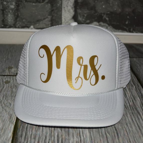 Beach Bachelorette Party Hats mrs trucker hat Bride neon  23c0425008f