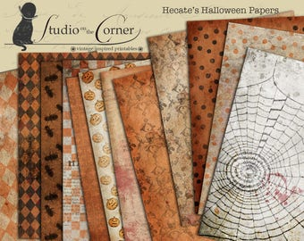 Halloween Digital Paper, Halloween Paper Pack, Halloween Journal Papers, Halloween Scrapbooking Paper