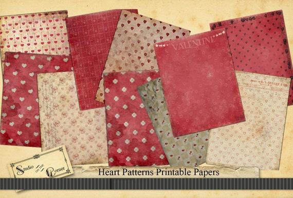 Vintage valentine-paper