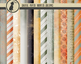 Digital Paper, Winter Digital Paper, Scrapbook Paper, Digital Scrapbook Paper, Winter White Paper, Winter Scrapbook Paper