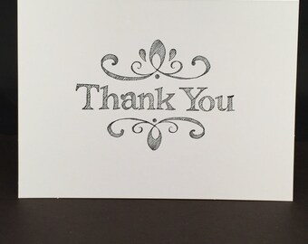 Ornate Thank You Card