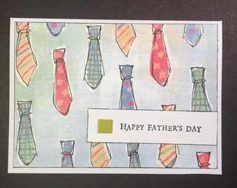 Happy Fathers Day card full of ties