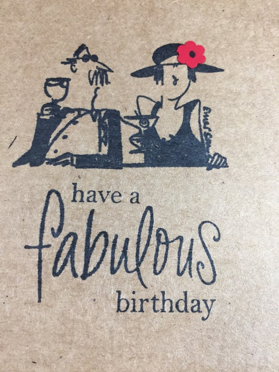 fabulous birthday card retro swanky have a fabulous etsy