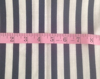 Degen Fabrics Co. - Navy and White striped fabric