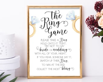 bridal shower ring game bridal shower games the ring game dont say bride dont say wedding bridal shower signs shower games