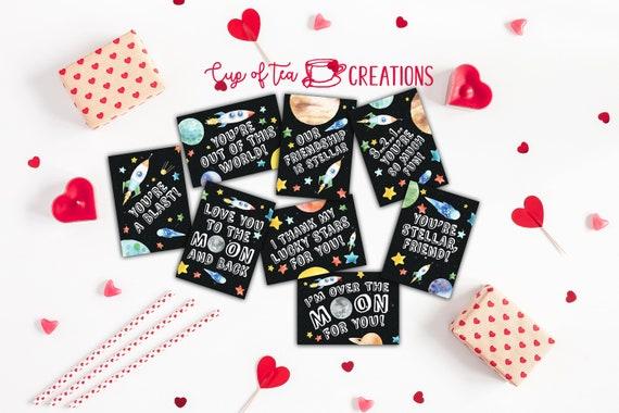 Space Valentines Astronaut Valentines Rocket Valentines