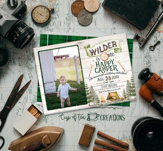 One Happy Camper Invitation Camp