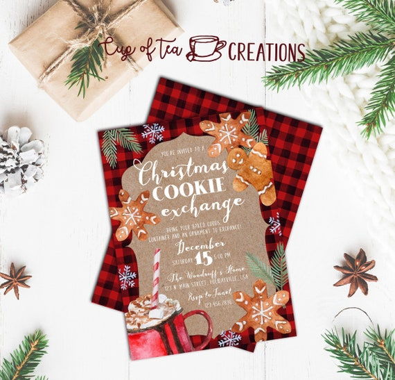 Christmas Cookie Party Invite.Christmas Cookie Exchange Invitation Christmas Party Invitation Cookie Exchange Invitation Holiday Cookie Exchange Christmas Invitation