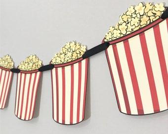 Movie Popcorn Party Banner