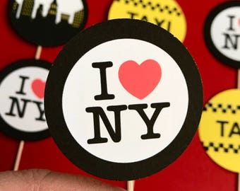 New York City Cupcake toppers