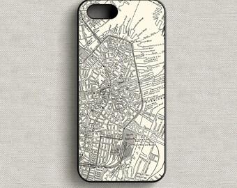 Map of Boston Massachusetts Phone Case iPhone 5 5C 6 6+ 7 7+