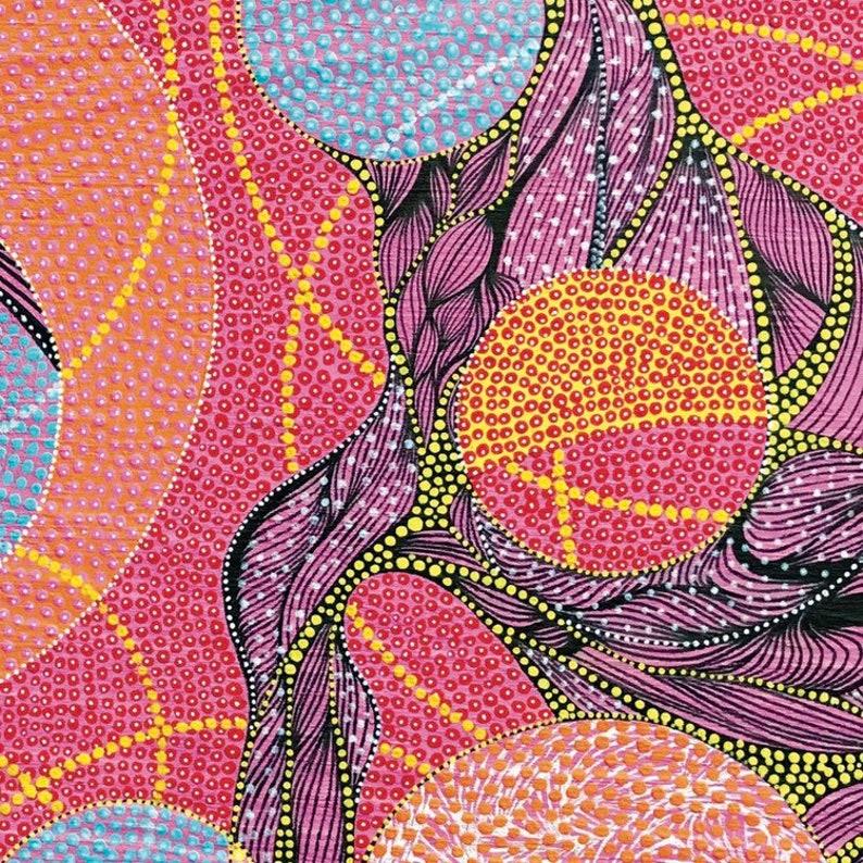 Peinture abstraite imprimé Pointillisme Peinture autochtone   Etsy