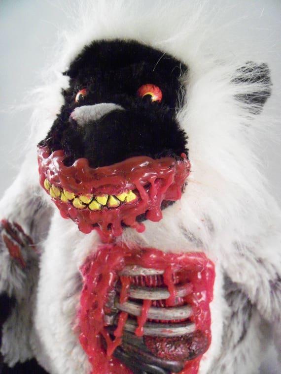 Scary Plush Zombie Monkey