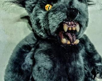 Creepy Cute Plush Werewolf Bear