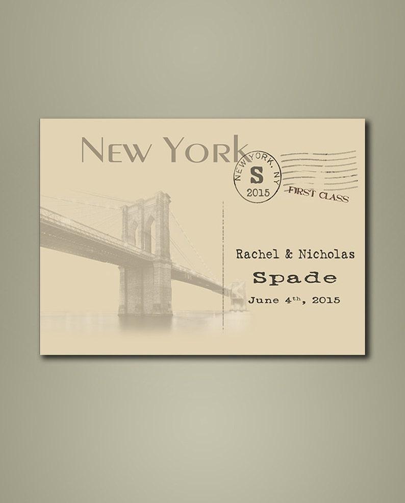 vintage postcards NY Wedding Guestbook Alternative \u2013 New York guestbook Wedding Guest Book Poster Weddings Custom state guestbook