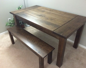Merveilleux Rustic Hand Crafted Farmhouse / Harvest Table