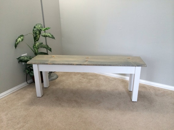 Fabulous Cottage Farmhouse Bench Rustic Solid Wood Bench Ibusinesslaw Wood Chair Design Ideas Ibusinesslaworg