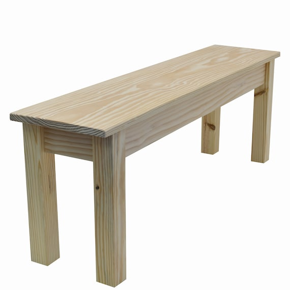 Peachy Unfinished Farmhouse Bench Rustic Solid Wood Bench Ibusinesslaw Wood Chair Design Ideas Ibusinesslaworg